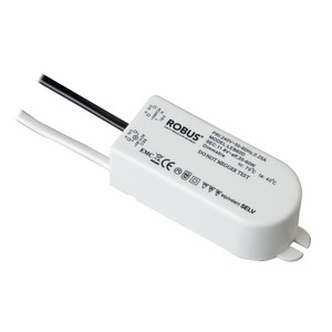 Robus 60W 12V Dimmable Electronic Transformer 98 x 38 x 32mm White