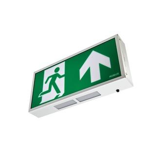 Robus Emergency Bulkhead LED Exit Box 3W 390 x 190 x 60mm White