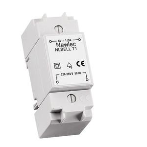 Newlec DIN/Surface Bell Transformer 8V 1A