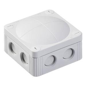 Wiska COMBI 308/5 8-Inlet Polypropylene Junction Box 4mm² 85 x 85 x 51mm Grey 5-Pack