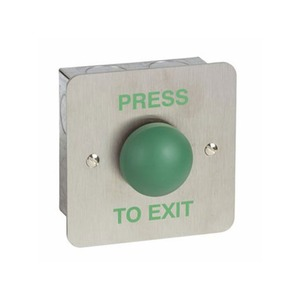 Securefast Stainless Steel Dome Exit Push Button Green