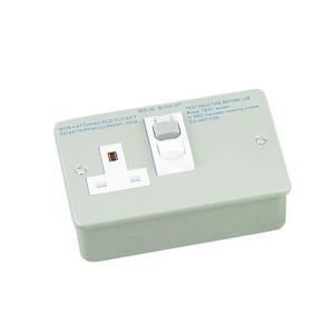 Newlec Metalclad RCD Socket Outlet 1 Gang 13A Grey