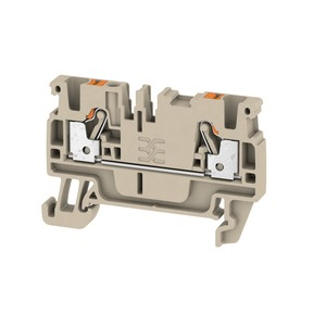 Weidmuller Klippon 2.5mm² A2C 2.5 Push-In Feed-Through Terminal Block 24A 800V Dark Beige (Pack of 100)