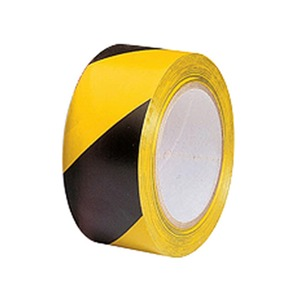 Hazard Warning Self Adhesive Floor Tape 50mm x 33m Black/Yellow