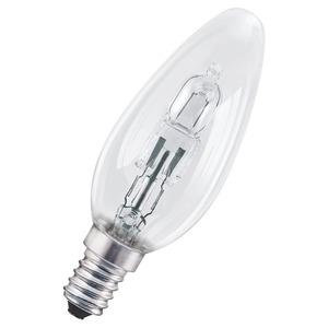 OSRAM CLASSIC B E14 High Voltage Halogen Lamp 20W 240V 2700K 35 x 104mm