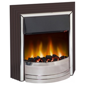 Dimplex Zamora 2kW Electric Freestanding Fire with White Pebbles/Real Coals