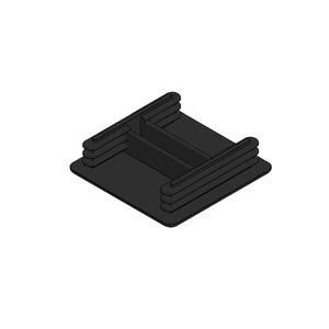Newlec Channel End Cap 41 x 41mm Black