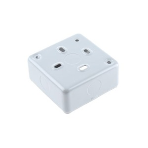 MK Electric Steel Surface Mount Back Box 1-Gang 86 x 86 x 40mm