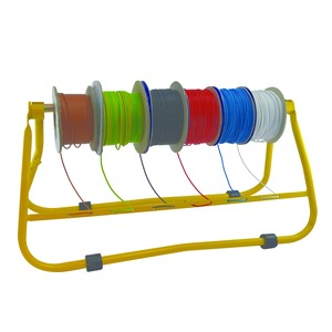 Newlec Multiple Cable Reel Carrier/Dispenser 750 x 290 x 360mm Yellow
