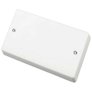 Crabtree Capital Blank Plate 2-Gang 86 x 146mm White