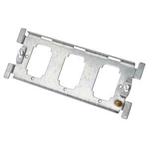 Crabtree Steel Rocker Grid Frame 3-Gang 81x58mm 25mm/35mm