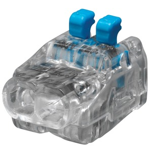 Ideal In-Sure 2-Port Lever Wire Connector 0.75-4mm² Clear/Blue 40-Pack