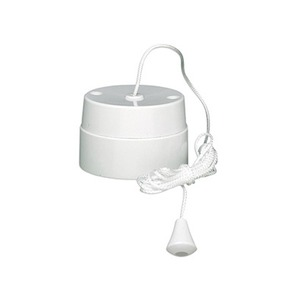 Crabtree Capital Ceiling Pullswitch 1-Pole 1-Way 16A 68.5 x 42.5mm 1.5m White