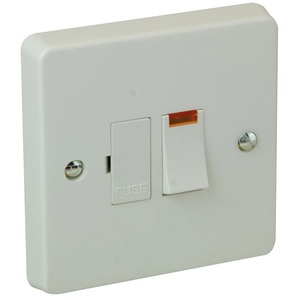 Crabtree Boiler Switched Fuse Connection Unit with Neon 1-Gang 2-Pole 13A White
