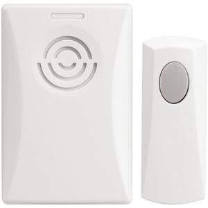 Newlec Portable Battery/Plug-In Doorbell Kit 50m Range White