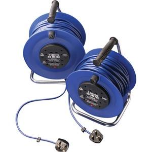Newlec Open Reel Extension Reel 3 x 1.25mm² 230V 4 Gang 50m Blue