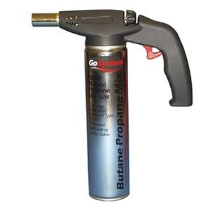 Auto Power Gas Torch with Propane/Butane Mix Gas Cartridge 350g