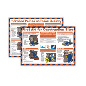 Health & Safety for Construction Site Poster 590x420mm