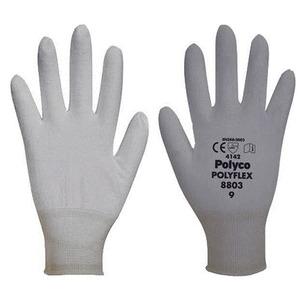 Polyco Polyflex Seamless Knitted Tear-Resistance Glove Grey Size 9
