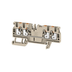 Weidmuller Klippon 2.5mm² A4C 2.5 Push-In Feed-Through Terminal Block 24A 800V Dark Beige (Pack of 100)
