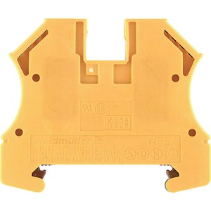 Weidmüller WPE Wemid PE Terminal Block 56 x 7.9 x 46.5mm Green/Yellow
