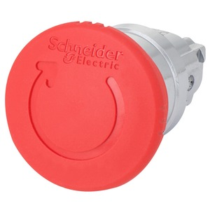 Schneider Harmony Mushroom Unmarked Emergency Stop Push Button Head Latching Metal 40mm Red