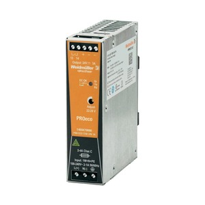 Weidmüller PROeco 72W 3A Single-Phase Power Supply Unit 24V 34 x 125 x 100mm
