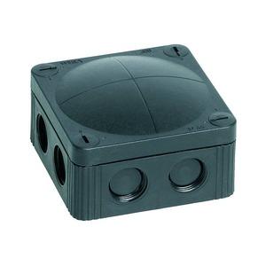 Wiska COMBI 308/5/S 8-Inlet Polypropylene Junction Box 4mm² 85 x 85 x 51mm Black