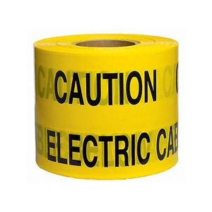"Utilinet Underground Warning Tape ""Electric Cable Below"" 150mm x 365m Polyethylene Yellow"