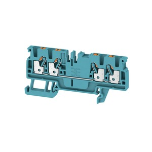 Weidmuller Klippon 2.5mm² A4C 2.5 BL Push-In Feed-Through Terminal Block 24A 800V Blue (Pack of 100)