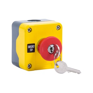 Newlec Emergency Stop Push Button Station Key Release 37mm