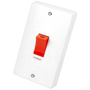 Crabtree 2-Pole Cooker Control Switch 50A