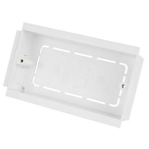 Marco Socket Mounting Box 2-Gang 2-Pillar 35mm White