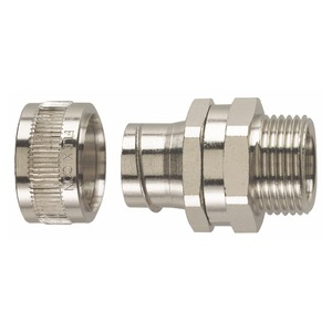 Flexicon Nickel-Plated Brass Type-S Flexible Conduit Fitting M20 x 15.3mm