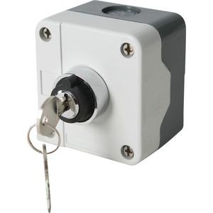 Newlec 2 Position Push Button Station Key Switch Grey
