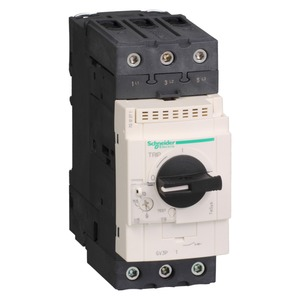 Schneider TeSys GV3 Screw Clamp Thermal-Magnetic Motor Circuit Breaker 3-Pole 48-65A 30kW