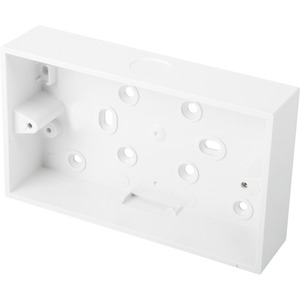 Newlec Square Corner PVC Conduit Back Box 2 Gang 32mm White