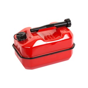 10 Litre Standard Fuel Can Metal Red