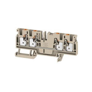 Weidmuller Klippon 4mm² A4C 4 Push-In Feed-Through Terminal Block 32A 800V Dark Beige (Pack of 100)