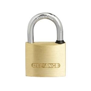 Heavy Duty Keyed Alike Medium Security Padlock 50mm Brass/Chrome