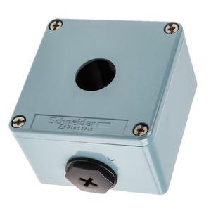 Schneider 1-Opening Flush Die-Cast Zinc Alloy Empty Control Station 1-Gang 80 x 80 x 49mm Blue