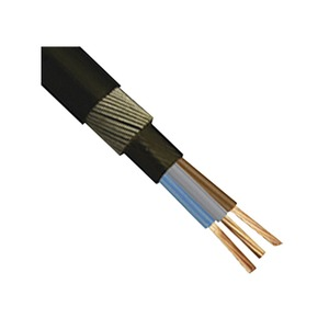 6943LSH  6mm² 3-Core LSH Armoured Cable 25m Black