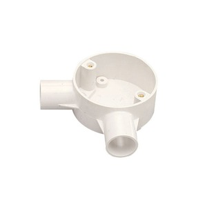 MK Electric Egatube PVC-U Angle Box 2-Way 20mm White