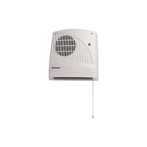 Dimplex 2kW Downflow Fan Heater with Pull Cord 230-240V White