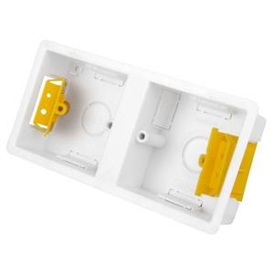 Appleby Dual Dry Lining Box 2-Gang 168 x 73 x 35mm White