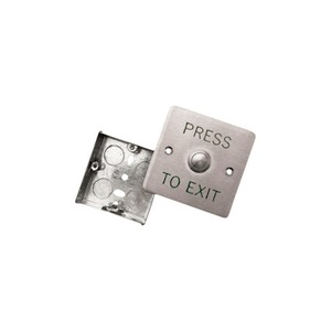Newlec Flush Stainless Steel Exit Button 85 x 85 x 30mm