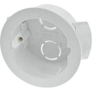 Newlec Circular Thermoplastic Dry Lining Box 1 Gang 34mm White