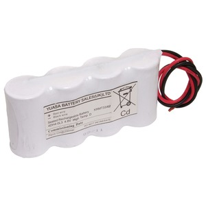 Yuasa 4.8V 4Ah 4-Cell x D Nickel Cadmium Rechargeable Battery with Lead Style 3