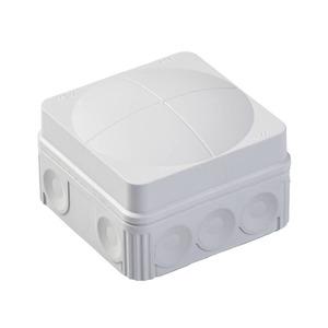 Wiska COMBI 108/5 12-Inlet Polypropylene Junction Box 2.5mm² 76 x 76 x 51mm Grey
