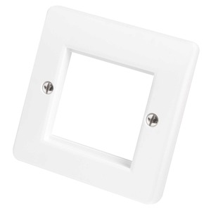 MK Logic Plus 1-Gang 2-Module Front Plate 50 x 50mm